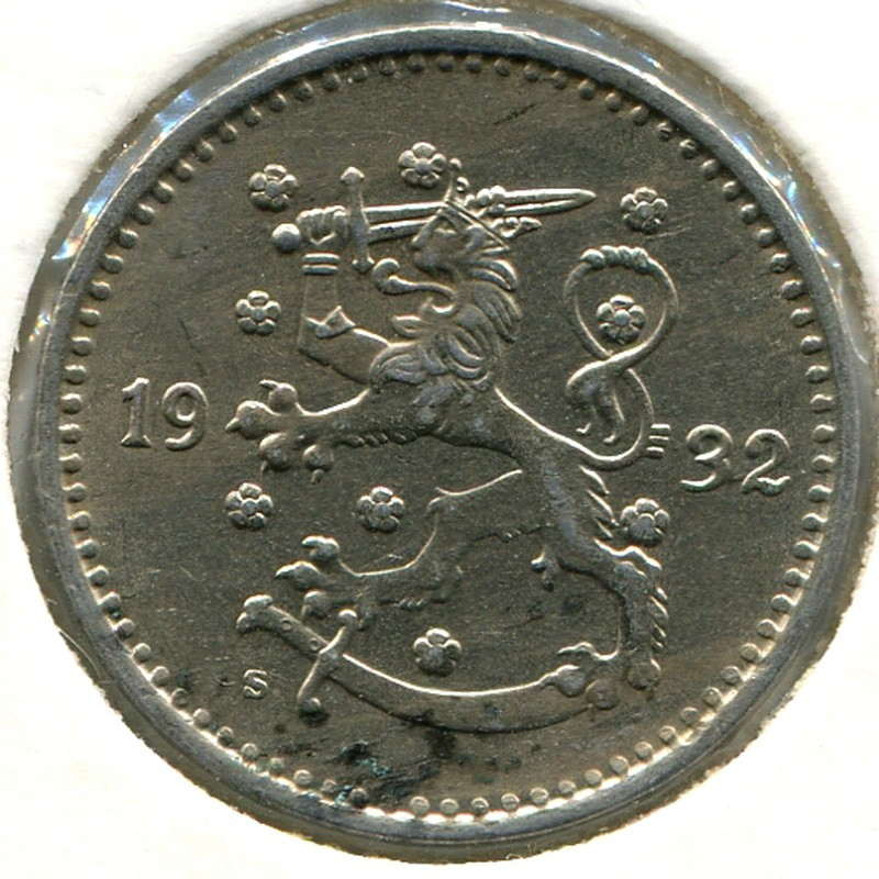Финляндия 1 марка 1932 #30 - 1