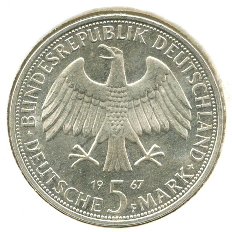 ФРГ 5 марок 1967 F #120.1 - 1