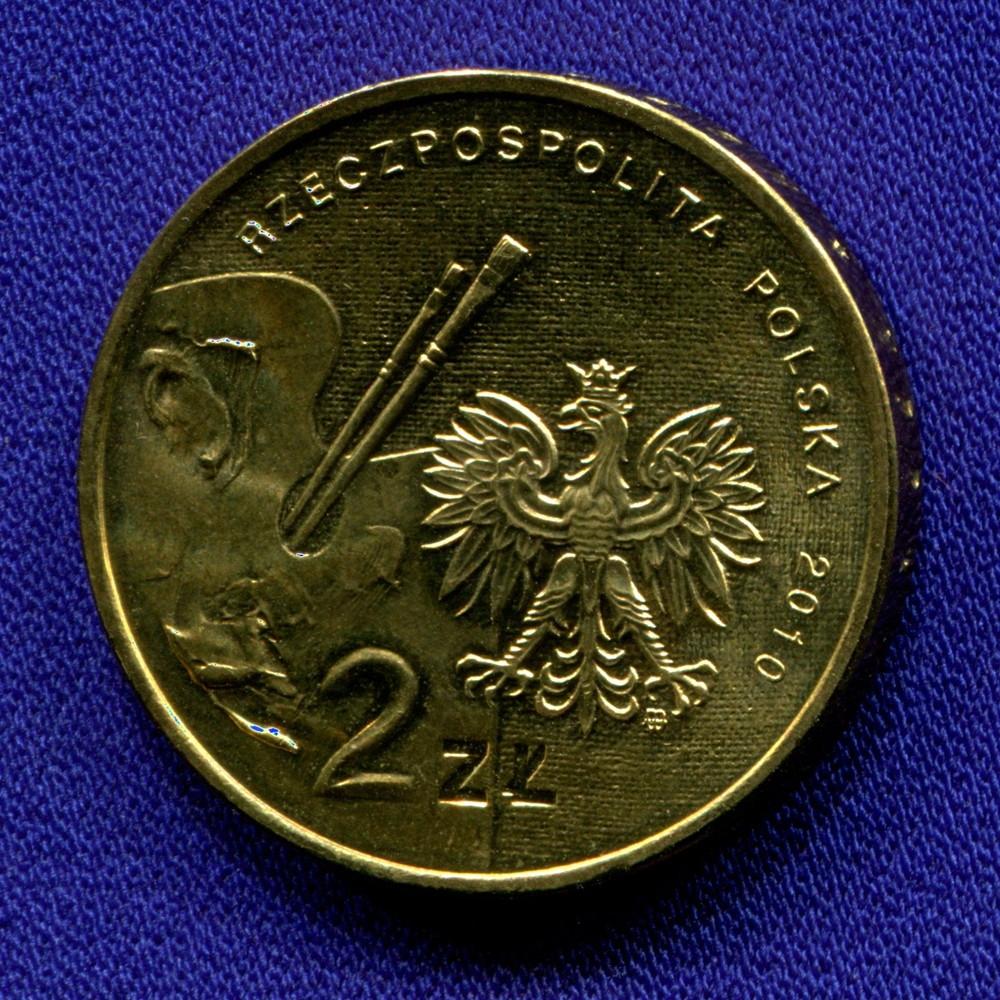 Польша 2 злотых 2010 UNC Артур Гротгер - 1