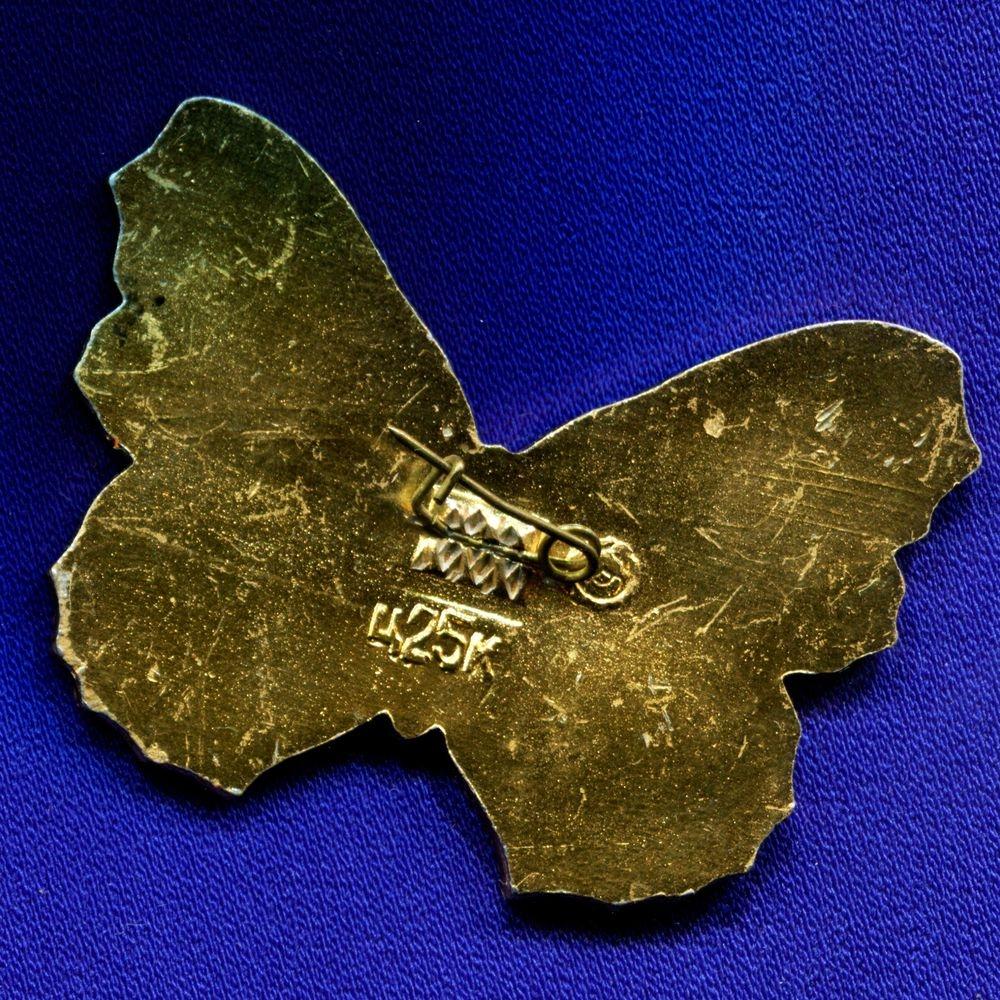 Детский значок «Бабочка» Алюминий Булавка - 1