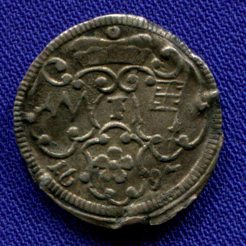 Германия/Вюрцбург 1 пфенниг 1697 aUNC  - 1