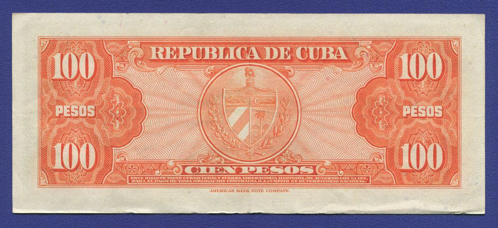 Куба 100 песо 1959 VF - 1