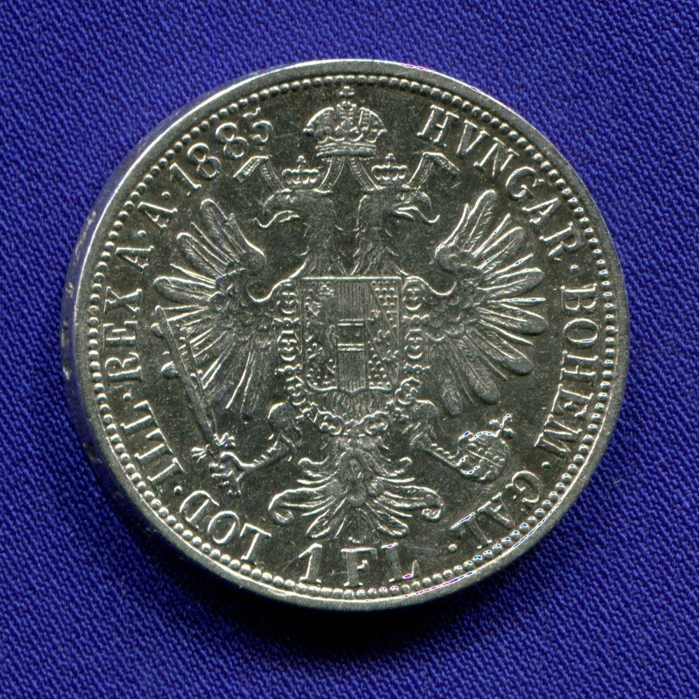 Австрия 1 флорин 1885 VF  - 1