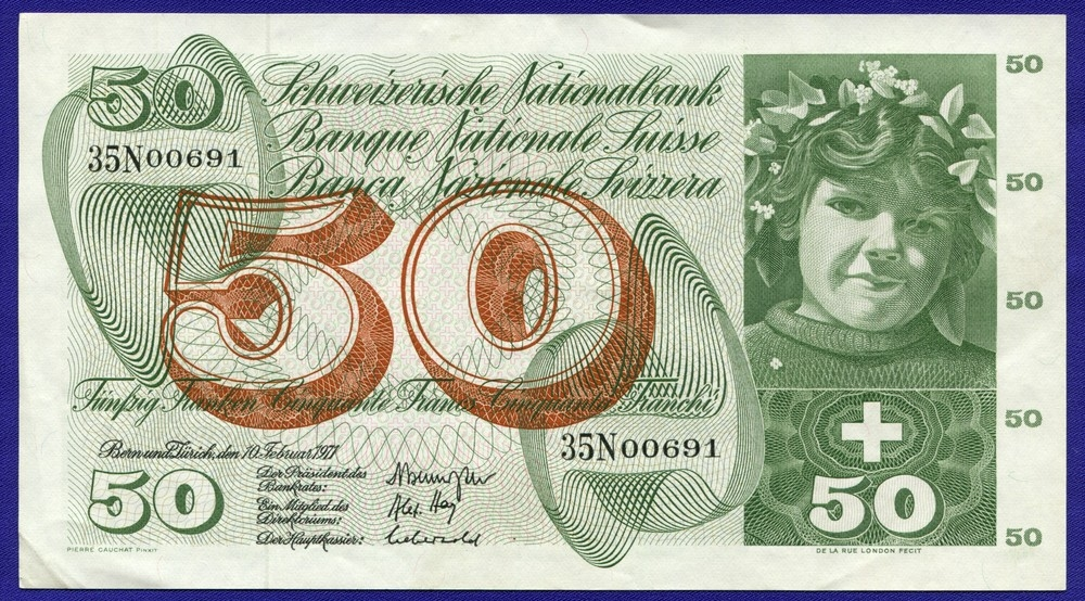 Швейцария 50 франков 1971 #48k - 1