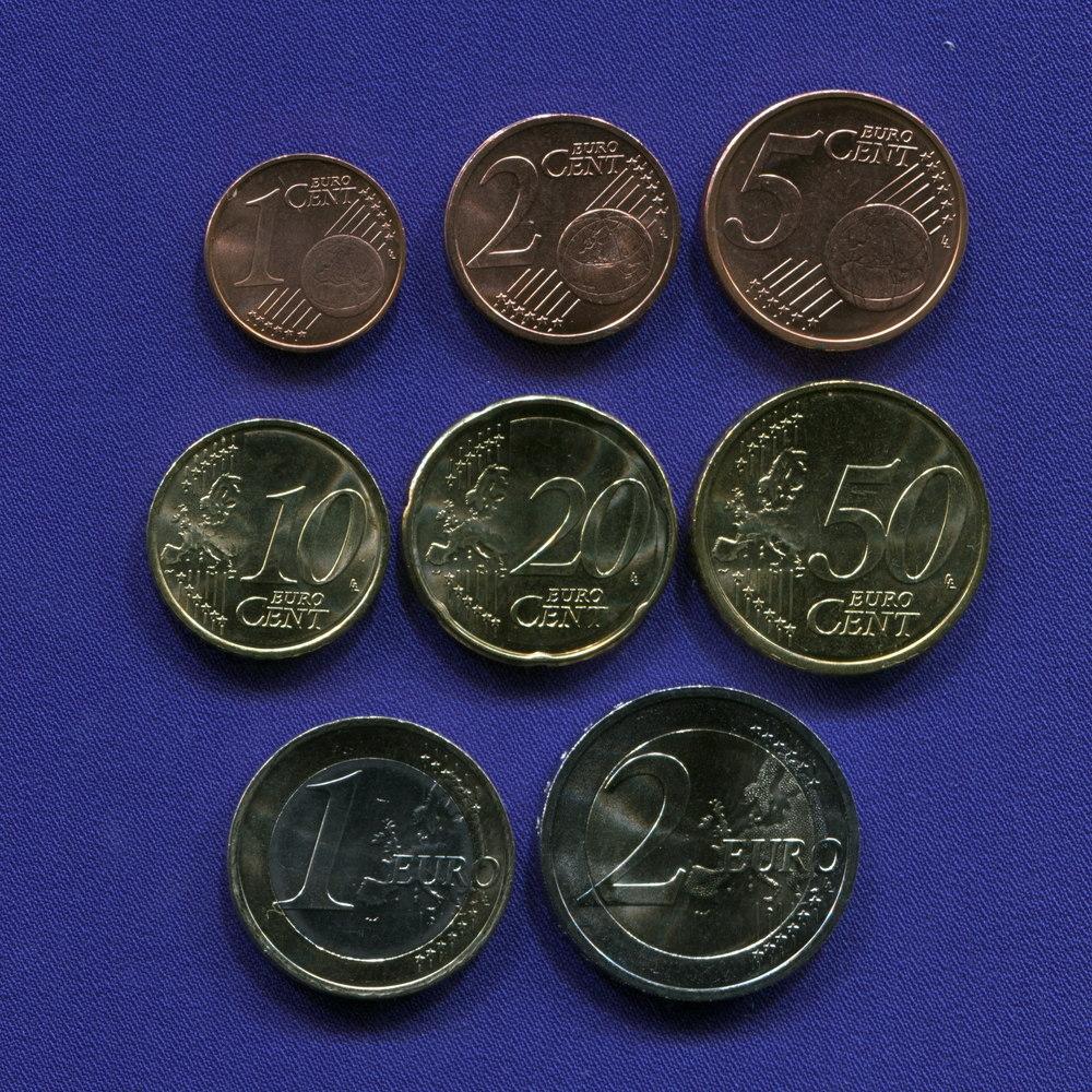Набор монет Словакии EURO 8 монет 2009 UNC - 1