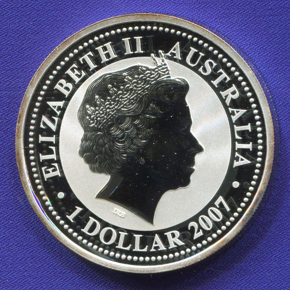 Австралия 1 доллар 2007 Proof Год Быка  - 1
