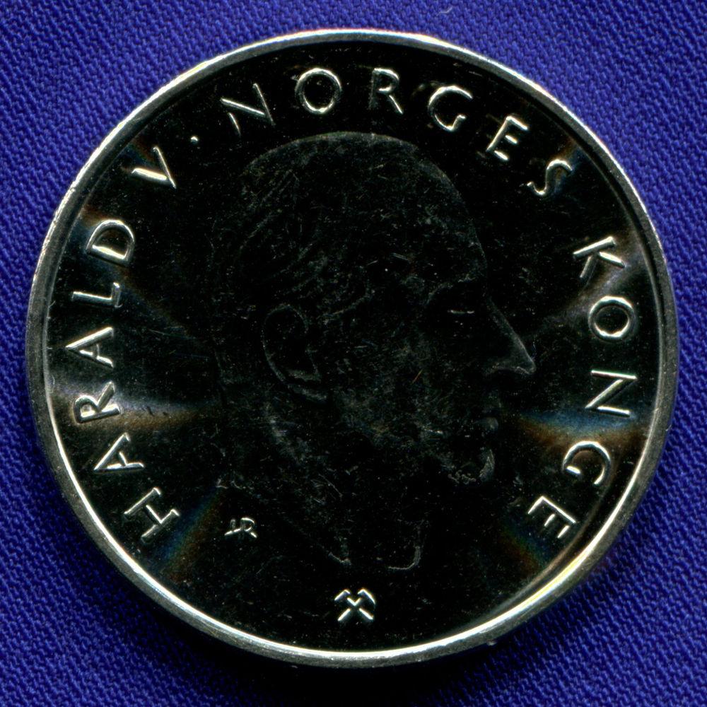 Норвегия 5 крон 1995 aUNC 1000 лет чеканке монет  - 1
