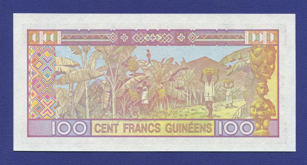 Гвинея 100 франков 1985 UNC - 1