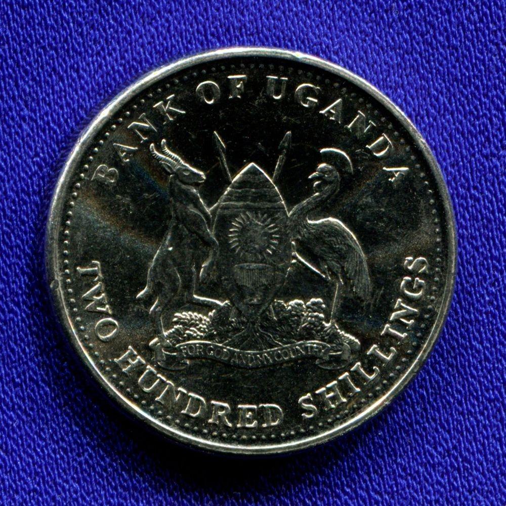 Уганда 200 шиллингов 2008 aUNC  - 1