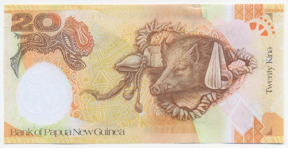 Папуа-Новая Гвинея 20 кина 2008 UNC - 1