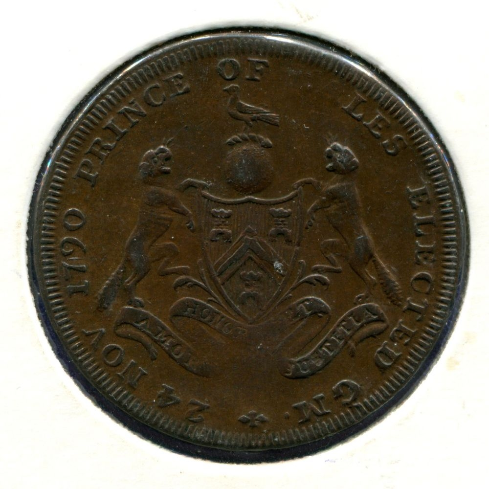 Англия/Мидлсекс 1/2 пенни 1794 XF  - 1