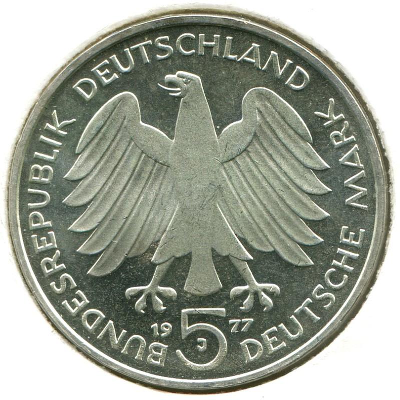 ФРГ 5 марок 1977 J #145 - 1