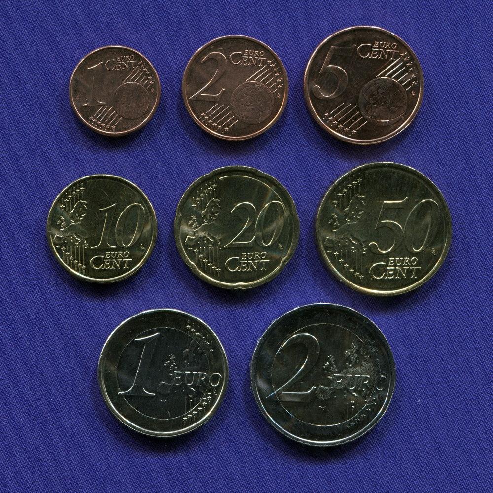Набор монет Люксембурга EURO 8 монет 2009 UNC - 1