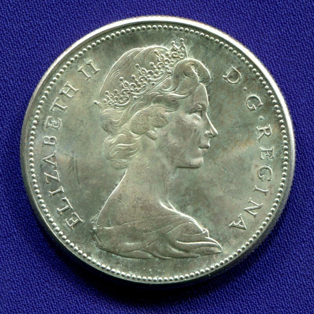 Канада 1 доллар 1967 UNC 100 лет Конфедерации  - 1