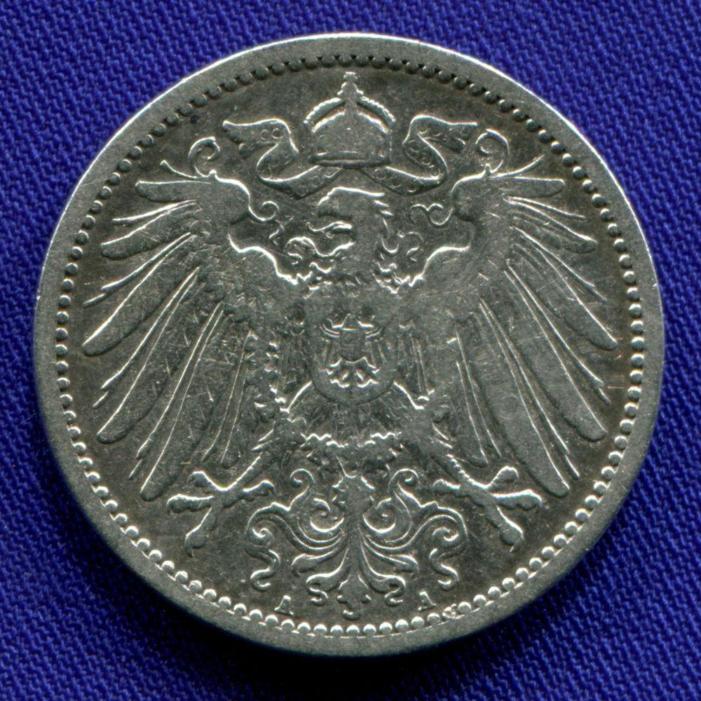 Германия 1 марка 1892 VF - 1