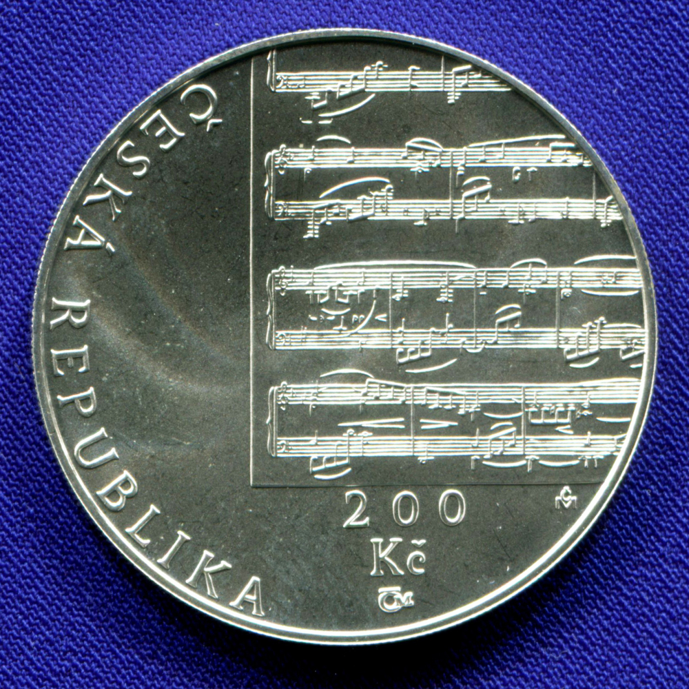 Чехия 200 крон 2010 UNC Густав Малер  - 1