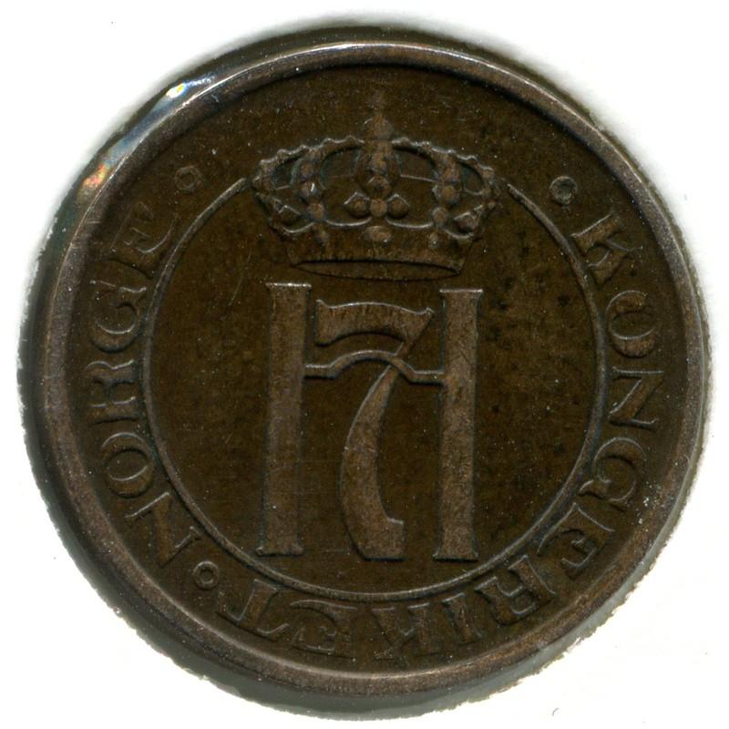 Норвегия 2 эре 1910 #371 VF - 1