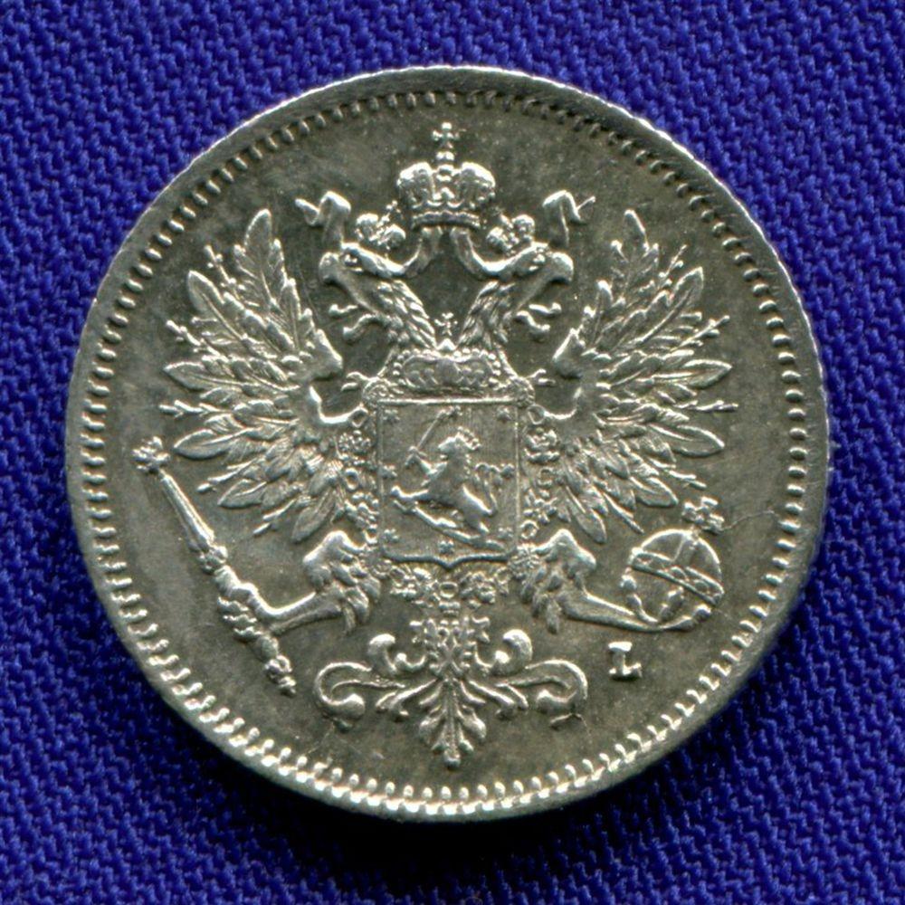 Николай II 25 пенни 1909 L XF+ - 1