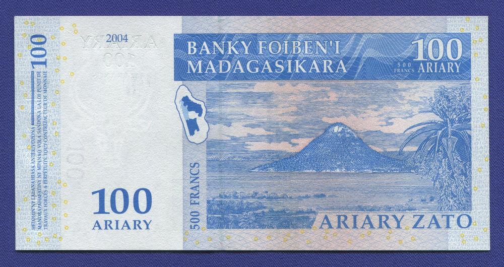 Мадагаскар 100 ариари 2004 UNC - 1
