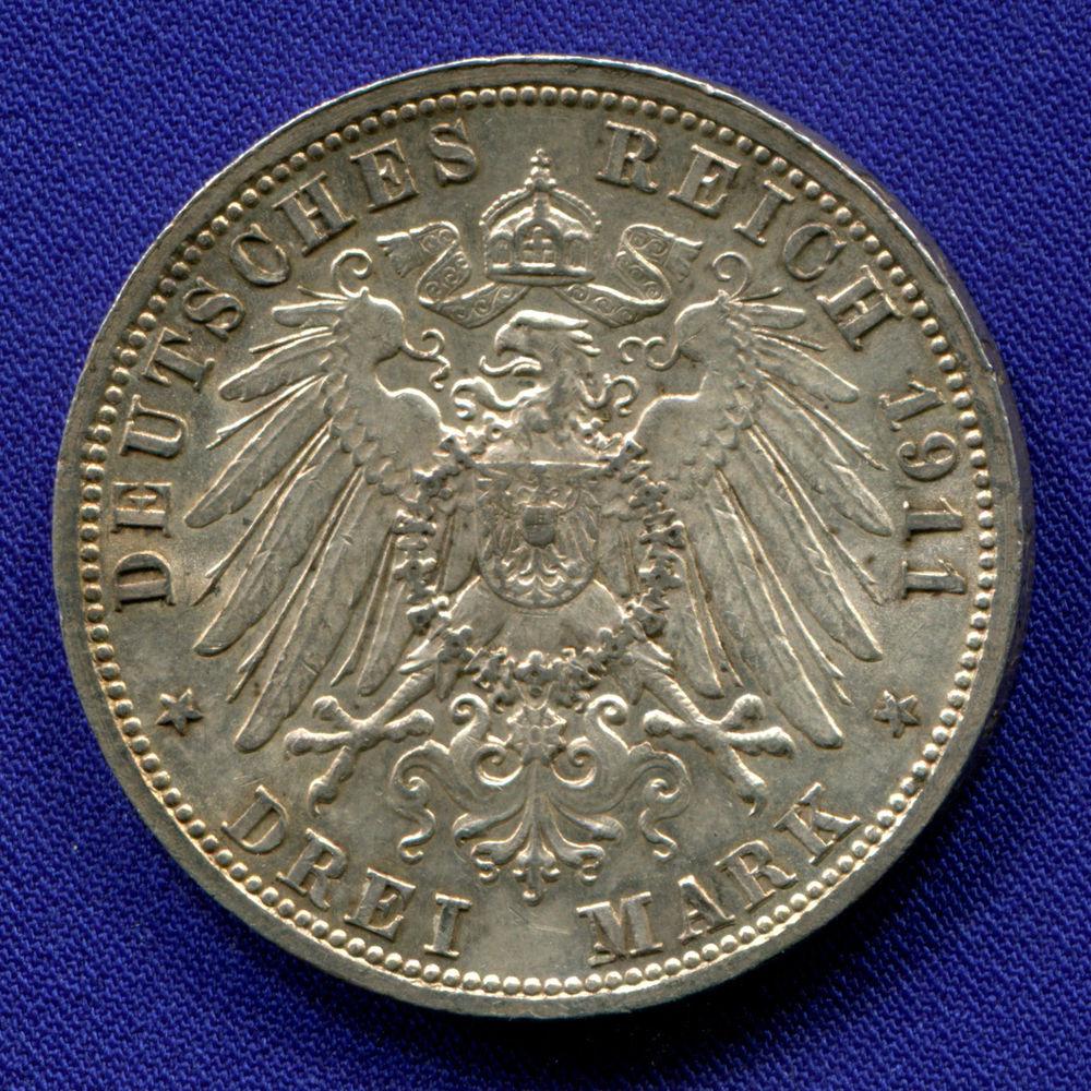 Германия/Баден 3 марки 1911 UNC - 1