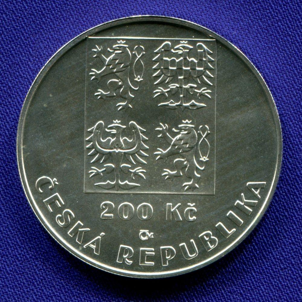 Чехия 200 крон 2001 UNC 100 лет Чешской футбольной ассоциации  - 1