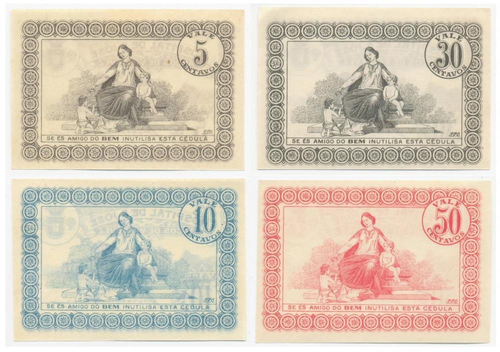 Набор Португалия 5, 10, 30, 50 сентаво ND - 1