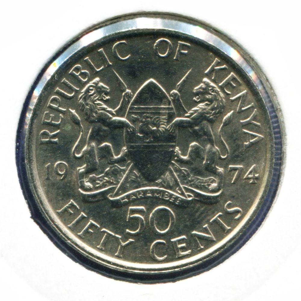 Кения 50 центов 1974 BU - 1