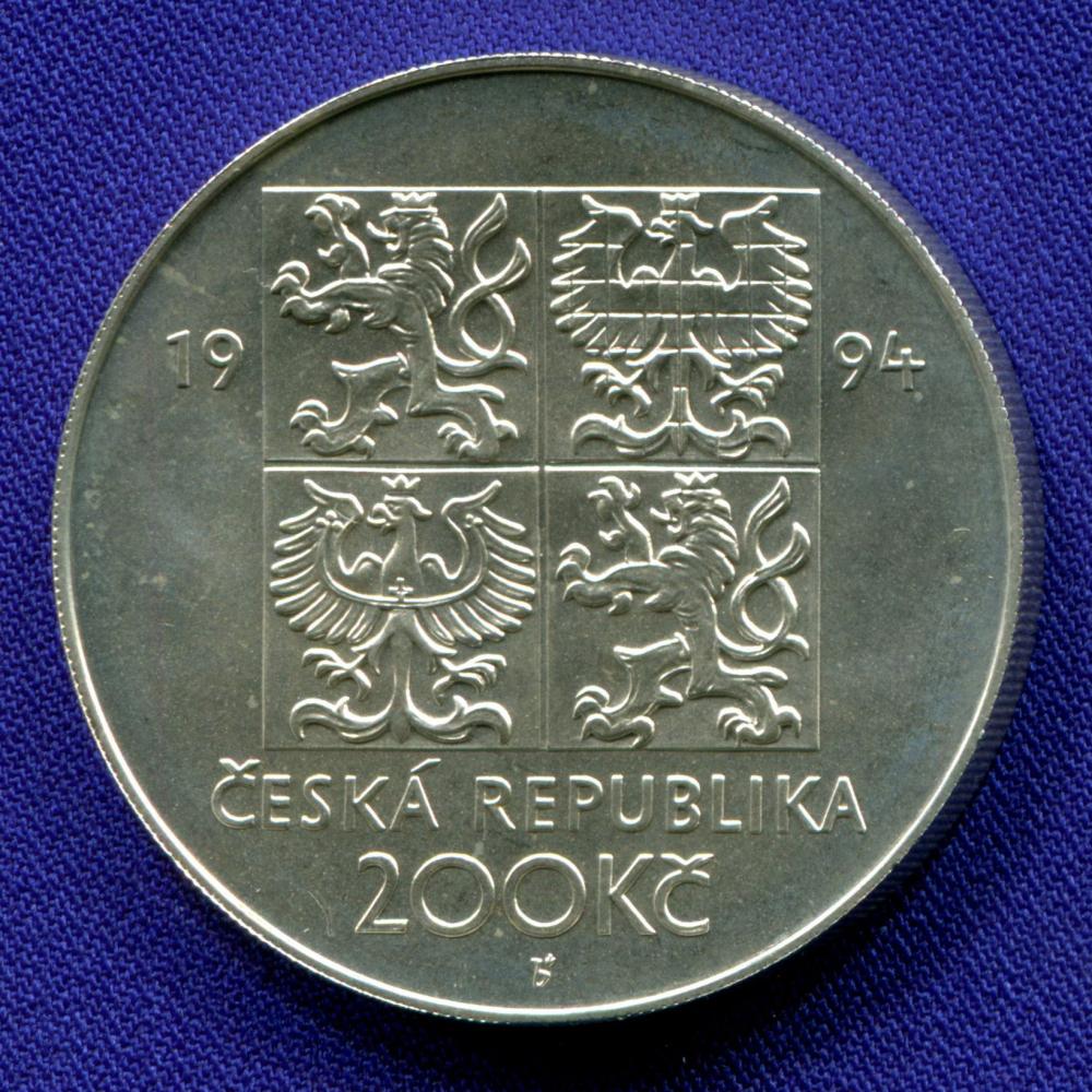 Чехия 200 крон 1994 UNC Защита окружающей среды  - 1