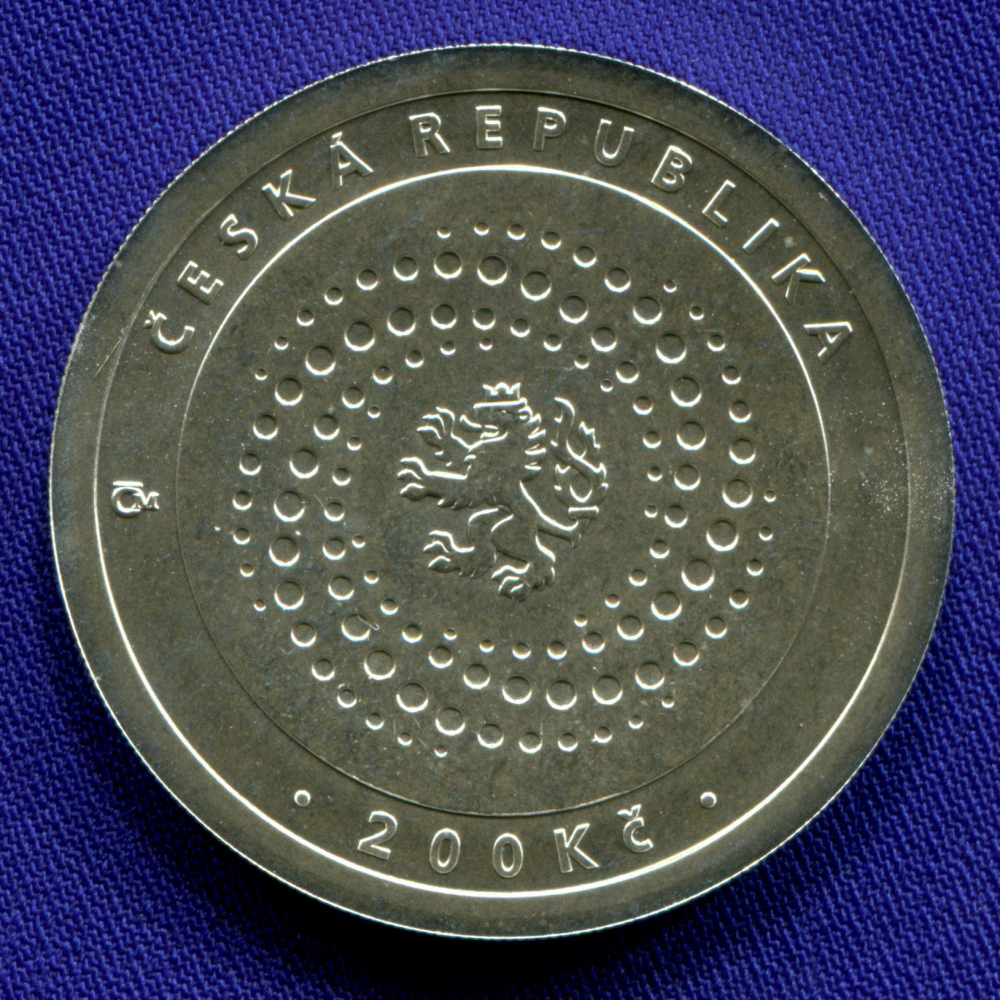Чехия 200 крон 2000 UNC Международный обменный фонд  - 1