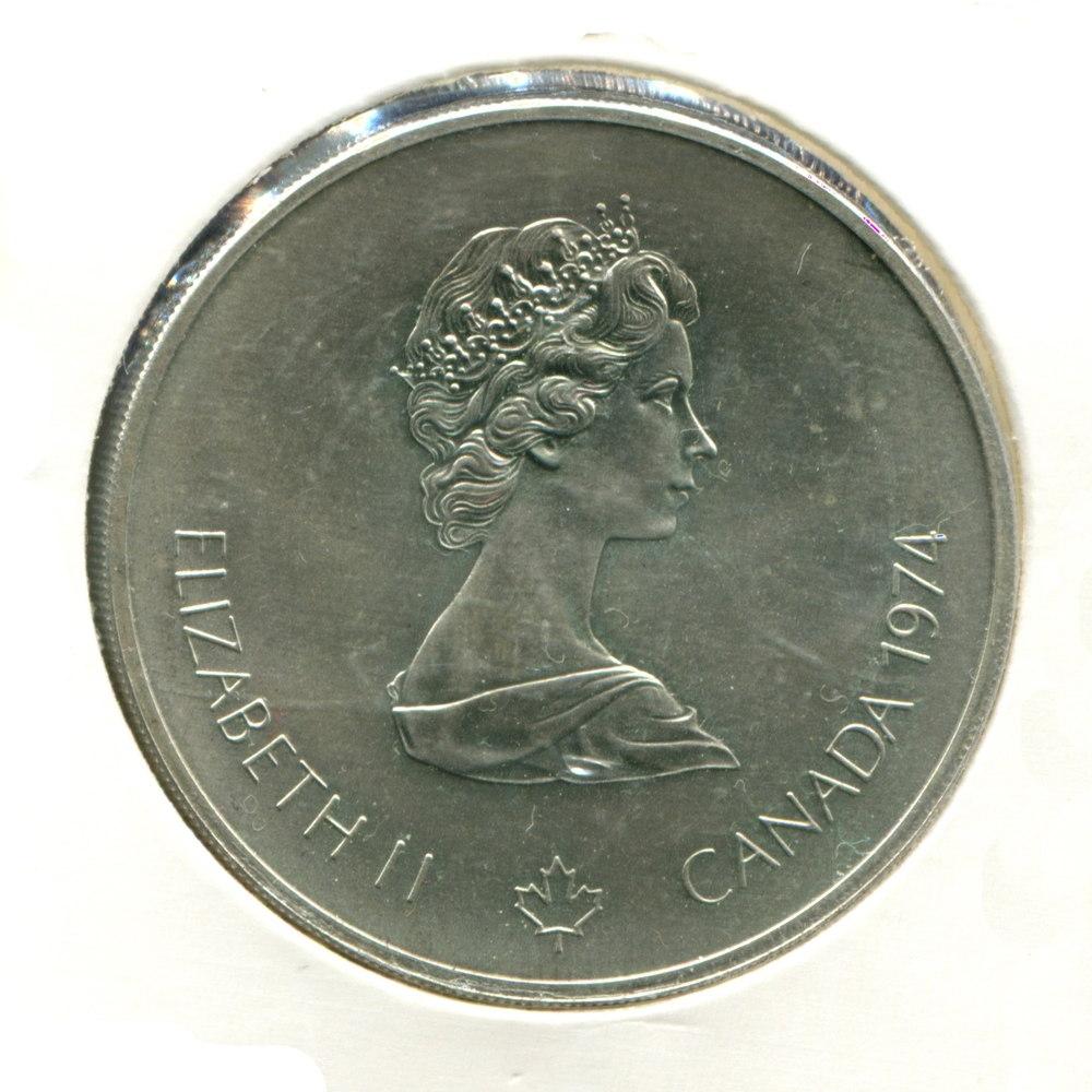 Канада 5 долларов 1976 UNC Олимпиада в Монреале  - 1