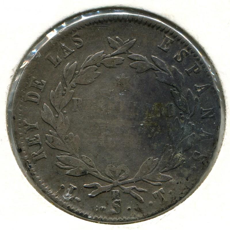 Испания 10 реалов 1821 SR #560.2 F - 1