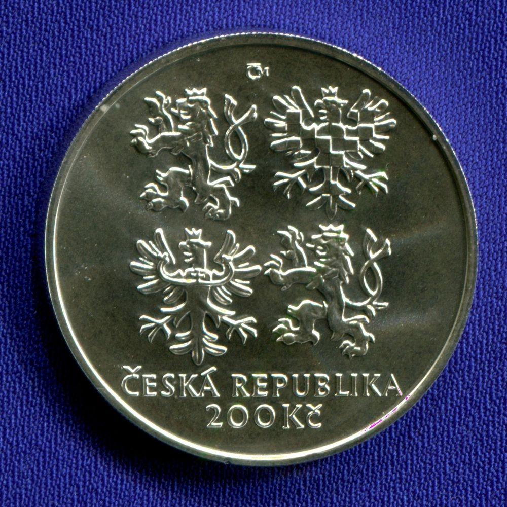 Чехия 200 крон 2002 UNC 100 лет со дня смерти Эмиля Голуба  - 1