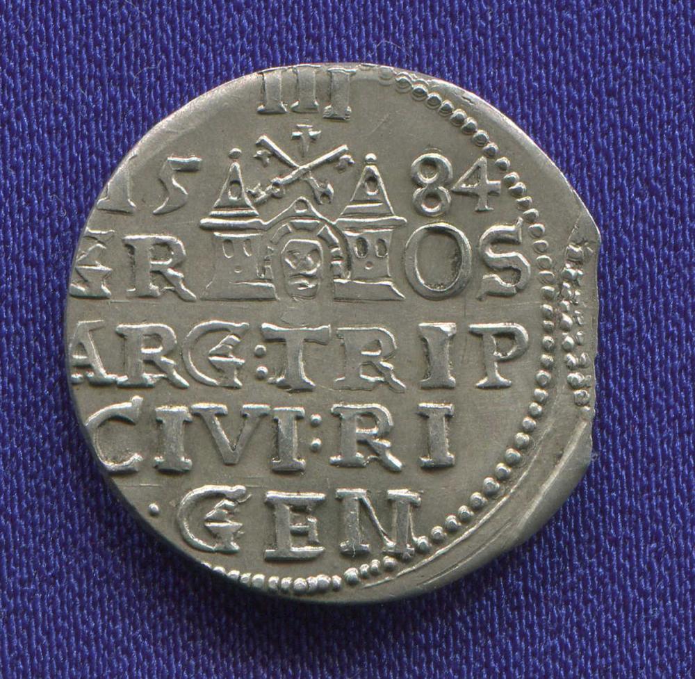 Польша 3 гроша 1584 UNC  - 1