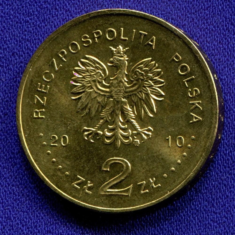 Польша 2 злотых 2010 UNC Польский август 1980 - 1