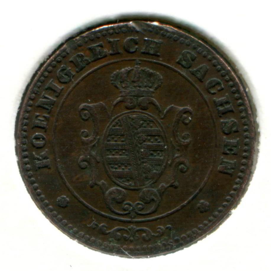 Германия/Саксония 1 пфенниг 1873 GVF  - 1