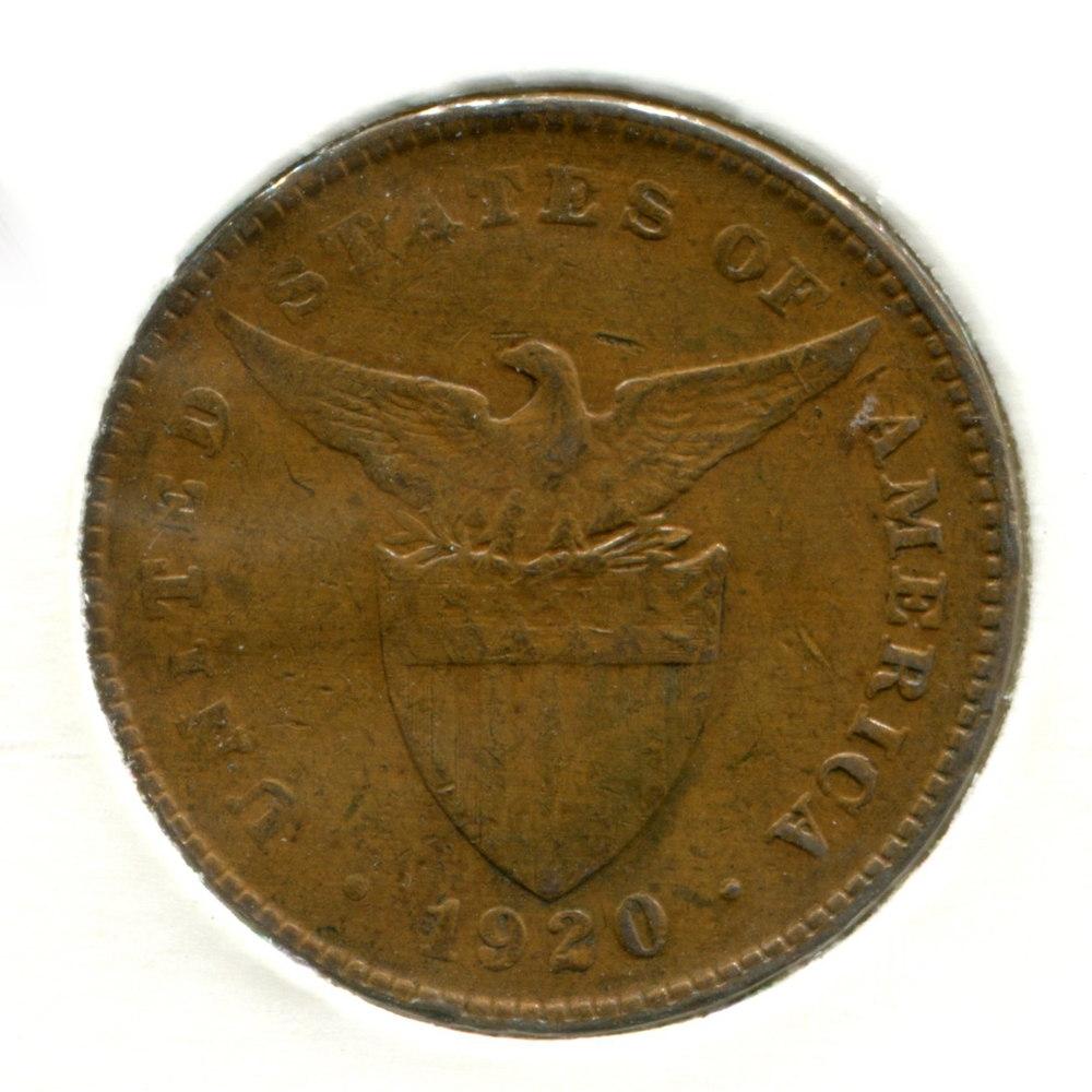 Филиппины 1 сентаво 1920 VF  - 1
