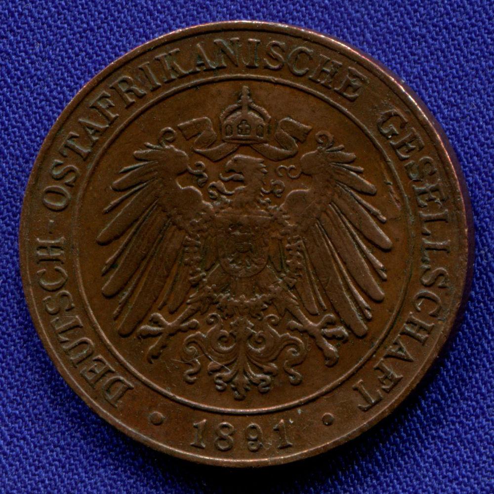 Германская Восточная Африка 1 песа 1891 XF  - 1
