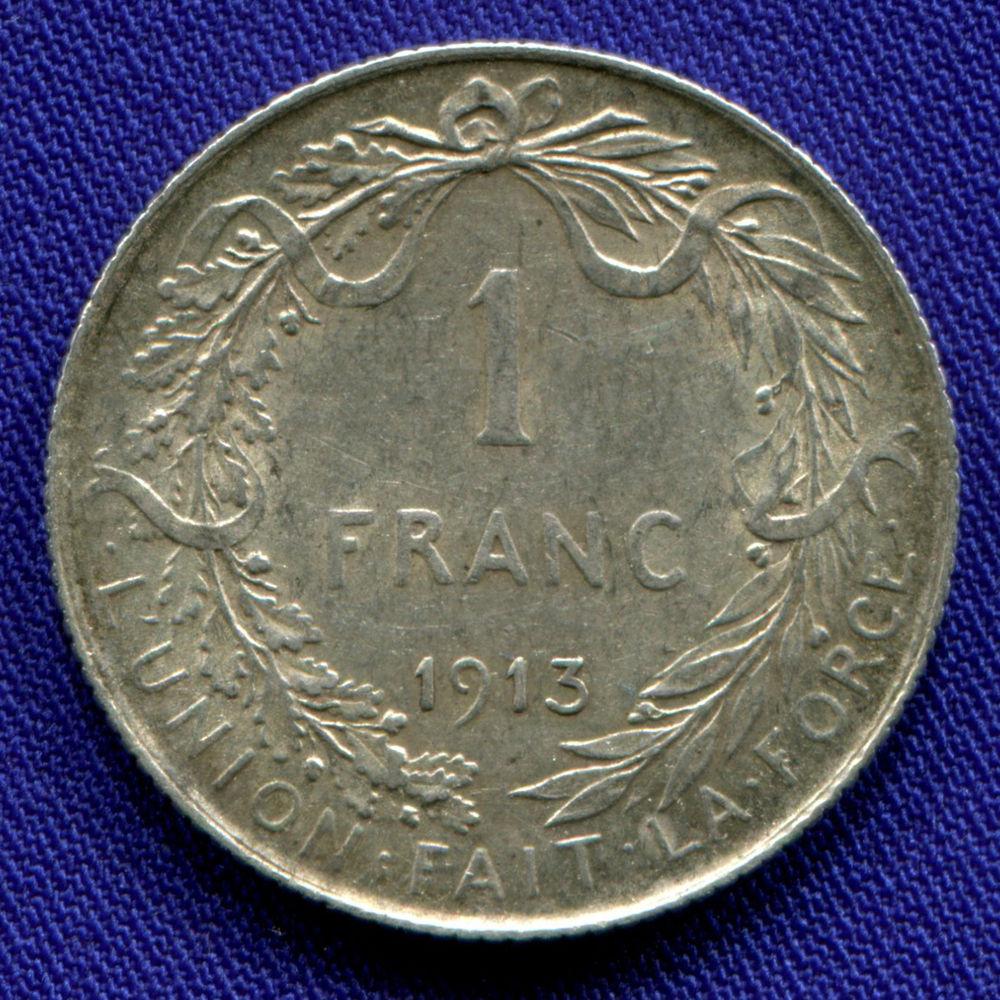 Бельгия 1 франк 1913 aUNC  - 1