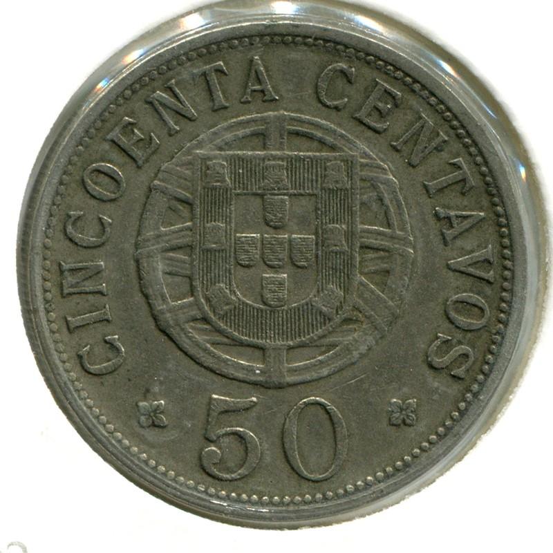 Ангола 50 сентаво 1927 #69 VF - 1