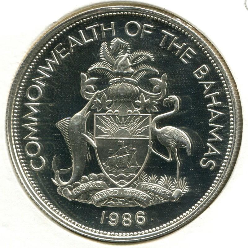 Багамские острова 10 долларов 1986 #113 - 1