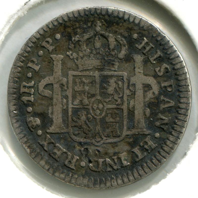Боливия 1 реал 1797 #70 F - 1