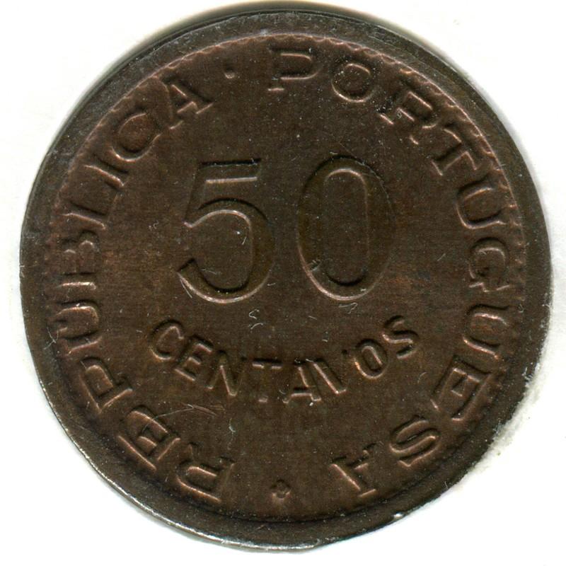 Португальская Гвинея 50 сентаво 1952 #8 BU - 1