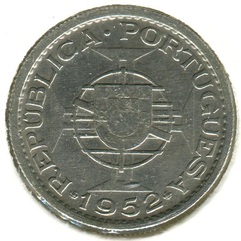 Португальская Гвинея 10 эскудо 1952 #10 VF - 1