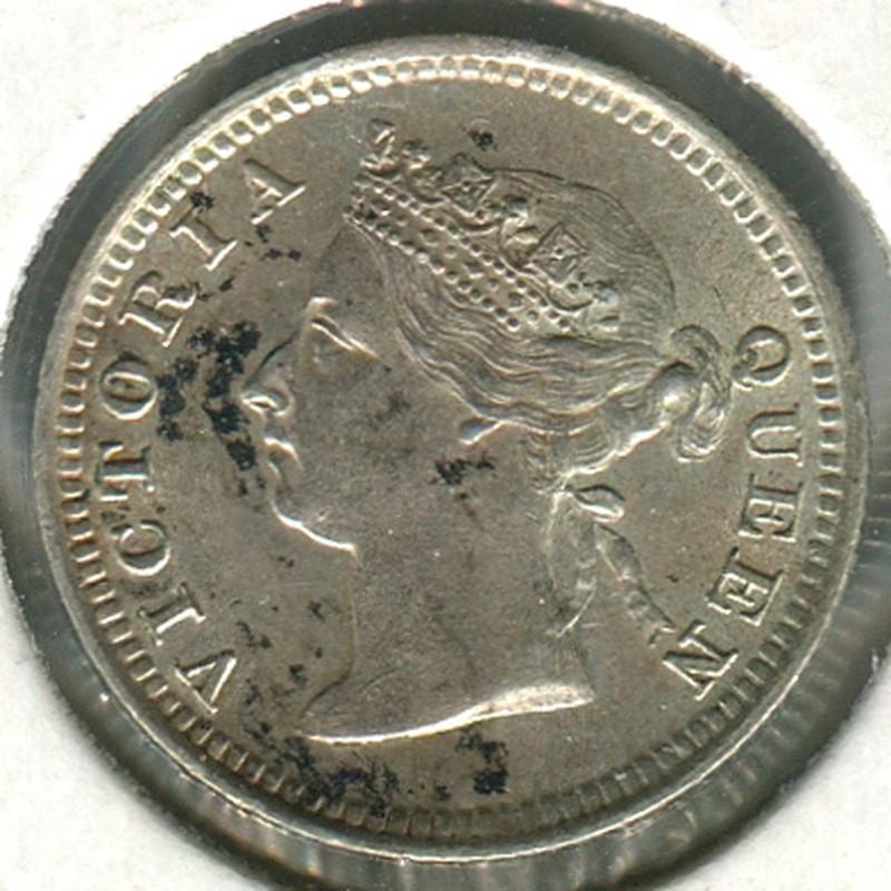 Гонконг 5 центов 1888 #5 BU - 1