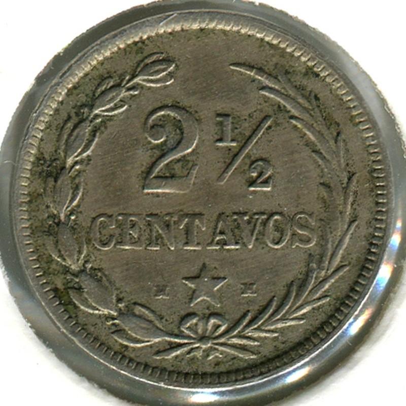 Доминикаская Республика 2.5 сентаво 1888 #7.4 XF - 1