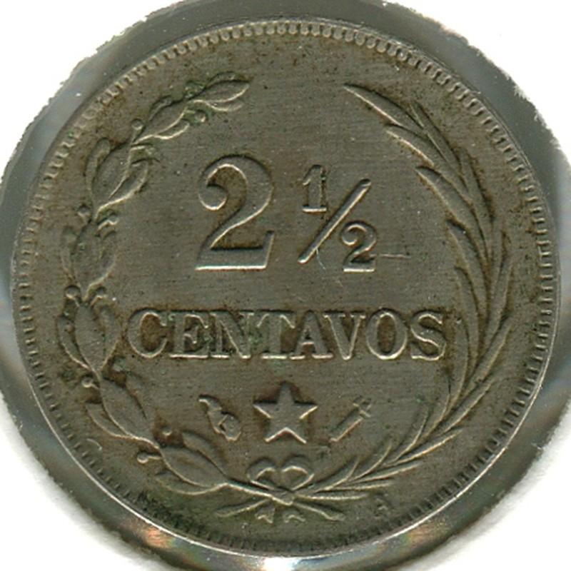 Доминикаская Республика 2.5 сентаво 1888 #7.3 VF - 1