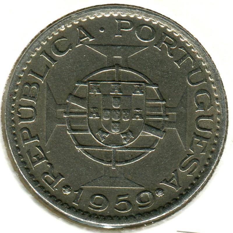 Португальская Индия 3 эскудо 1959 #34 - 1