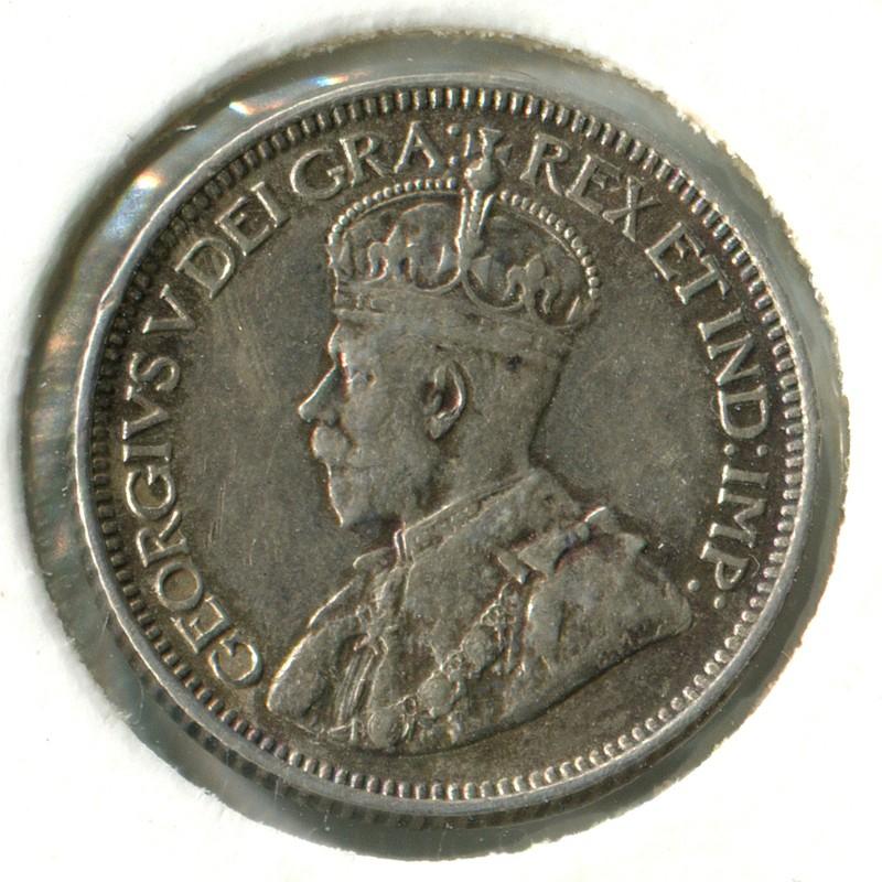 Канада 10 центов 1914 #23 VF - 1