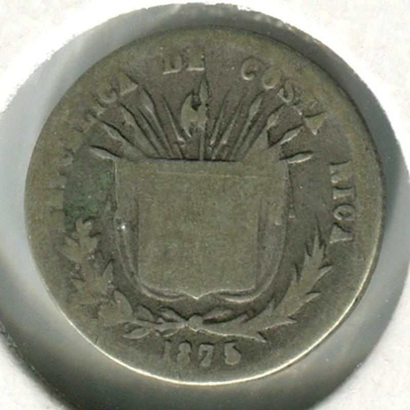 Коста-Рика 5 сентаво 1875 #110 VG - 1