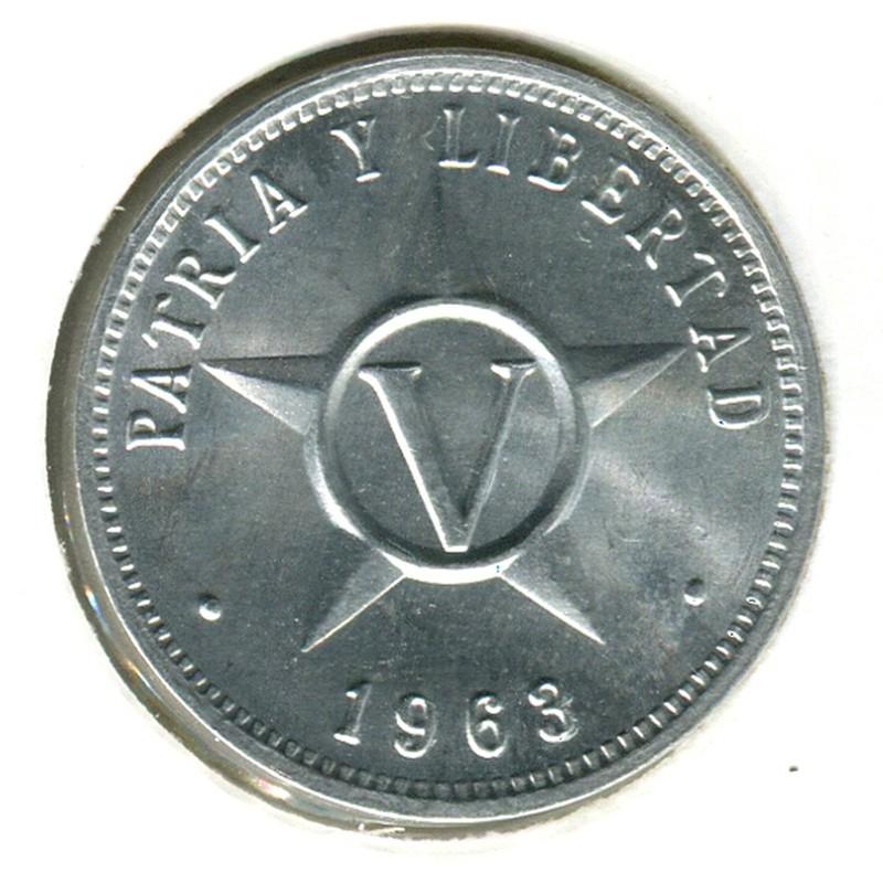 Куба 5 сентаво 1963 #34 BU - 1